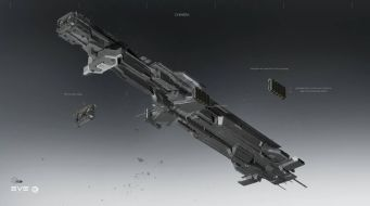 Concept Art of the Caldari Chimera Carrier - already implemented in the game