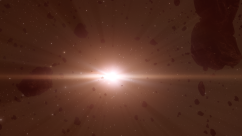 asteroid belt - red sun 1