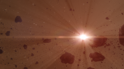 asteroid belt - red sun 3