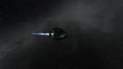 capsule in space