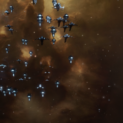 cruiser fleet exiting warp