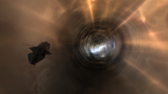 drifter in front of wormhole