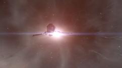 caldari shuttle im gegenlicht