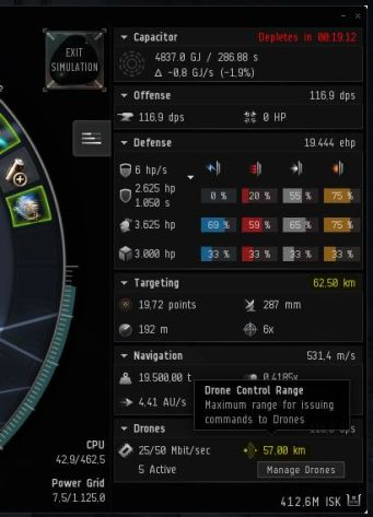 Targeting Range and Drone Control Range