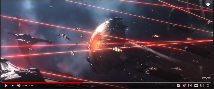 0041 triglavians attacking an amarr titan